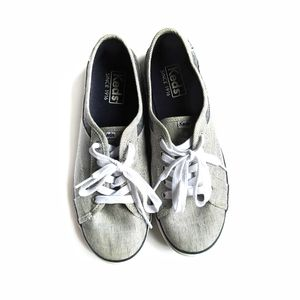KEDS Coursa Chambray Stripes Lace Up Sneakers